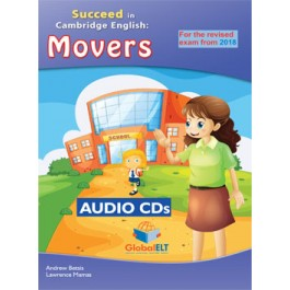 Cambridge YLE - Succeed in MOVERS - 2018 Format - 8 Practice Tests - Audio CDs