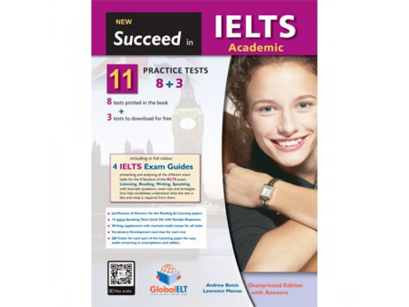 Succeed in IELTS Academic - 11 (8+3) Practice Tests Overprinted Edition with Answers