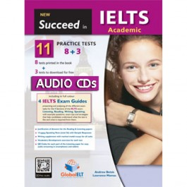 Succeed in IELTS Academic - 11 (8+3) Practice Tests Audio MP3/CD