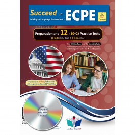 Succeed in ECPE Michigan Language Assessment NEW 2021 Format (10+2) Practice Tests - Audio MP3/CD