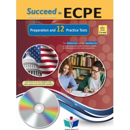 Succeed in ECPE Michigan Language Assessment NEW 2021 Format - 12 Practice Tests - Audio CDs