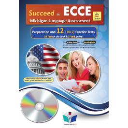 Succeed in ECCE Michigan Language Assessment NEW 2021 Format (10+2) Practice Tests -  Audio CDs